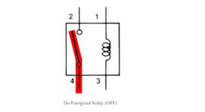 deenergized relay